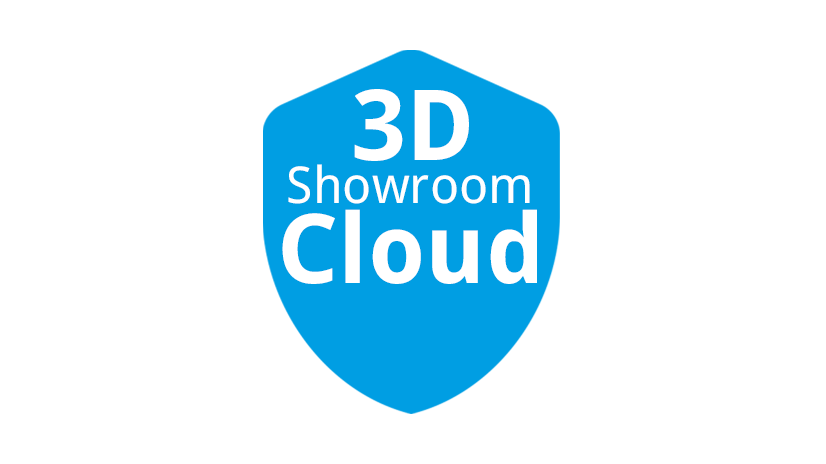 3D Showroom Cloud Icon