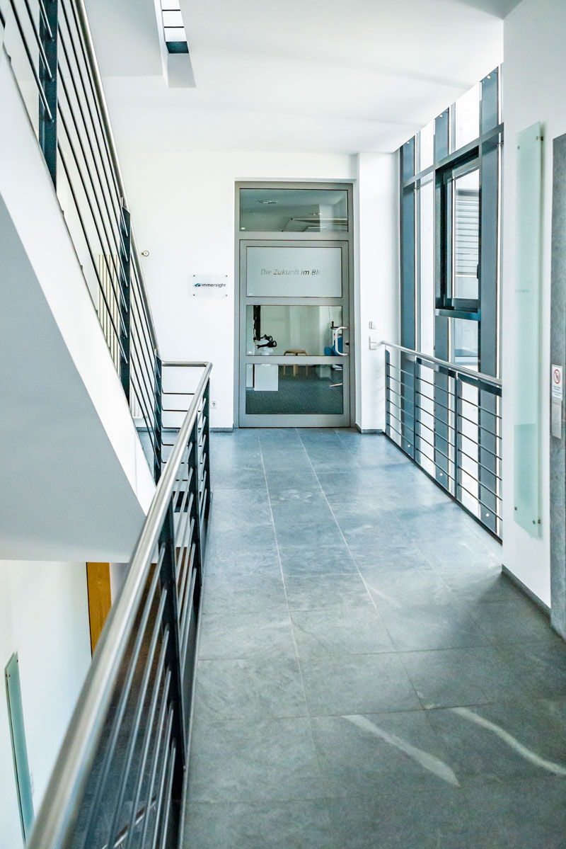 Eingang zum Büro der immersight GmbH, Syrlinstr. 38, Ulm