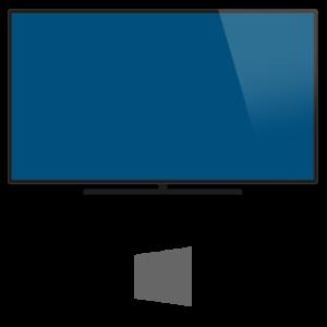 Windows-Rechner verbunden mit Bildschirm