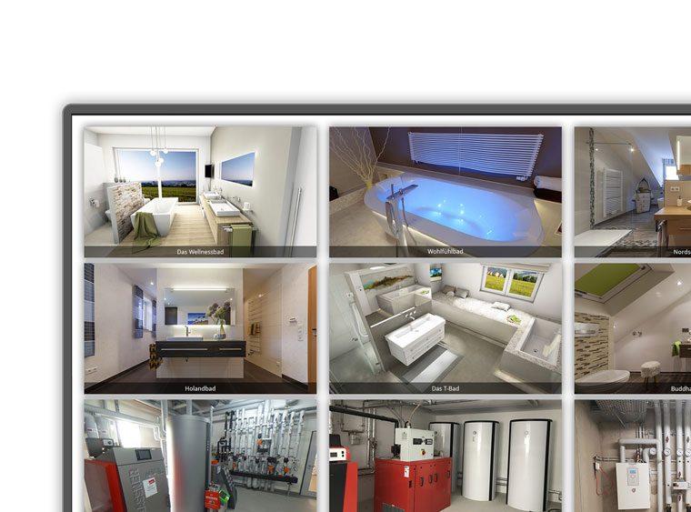 Virtuelle Badausstellung, Kojen-Übersicht