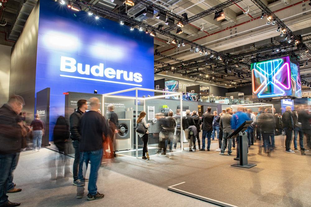 Stand von Buderus auf der ISH in Frankfurt 2019