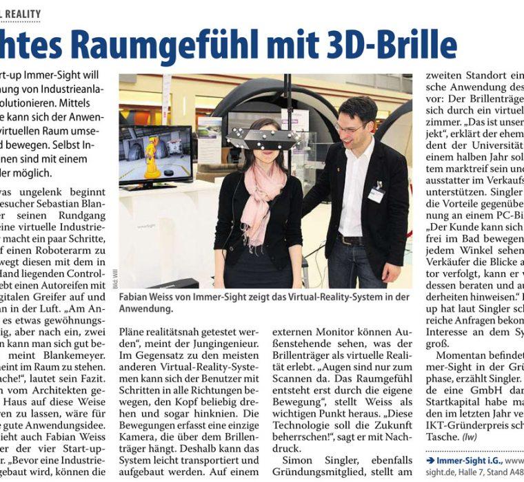 MaschinenMarkt Hannover-Messe Virtuelle-Realität Digitale-Fabrik