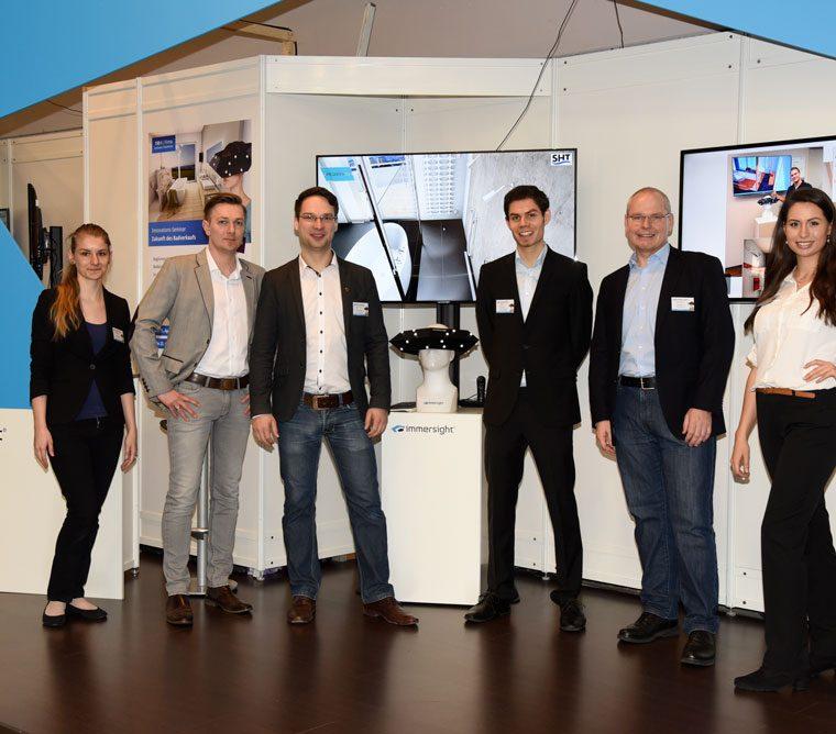 Mitarbeiter Team immersight ISH 2015 Raumbrille