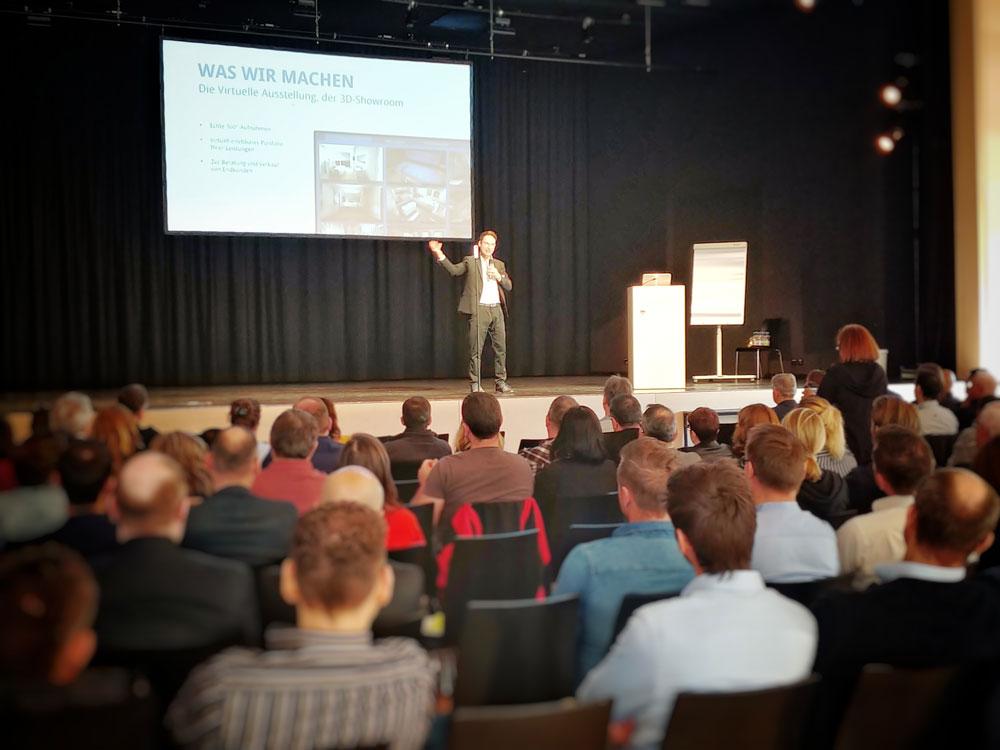 Rednerbühne Zukunftsforum Lindau 2019 Fabian K.O. Weiss