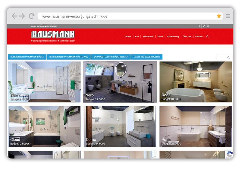 Der Webshowroom von Hausmann Versorgungstechnik