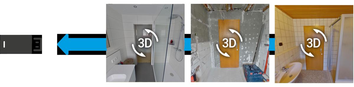 3D Baustellendokumentation auf USB Stick