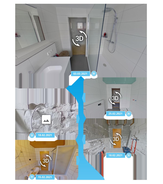 3D-Workroom immersight Projekt Zeitstrahl