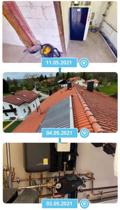 Zeitlinie Virtuelle Baustelle Heizung