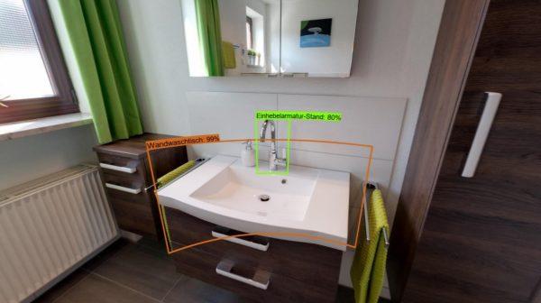 Analyse eines Badezimmers mit Künstlicher Intelligenz